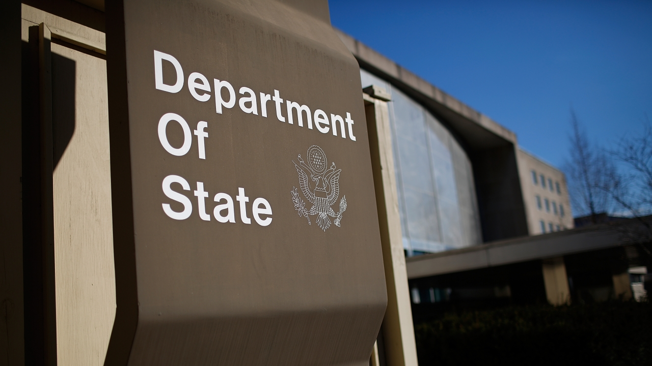 State Department building sign