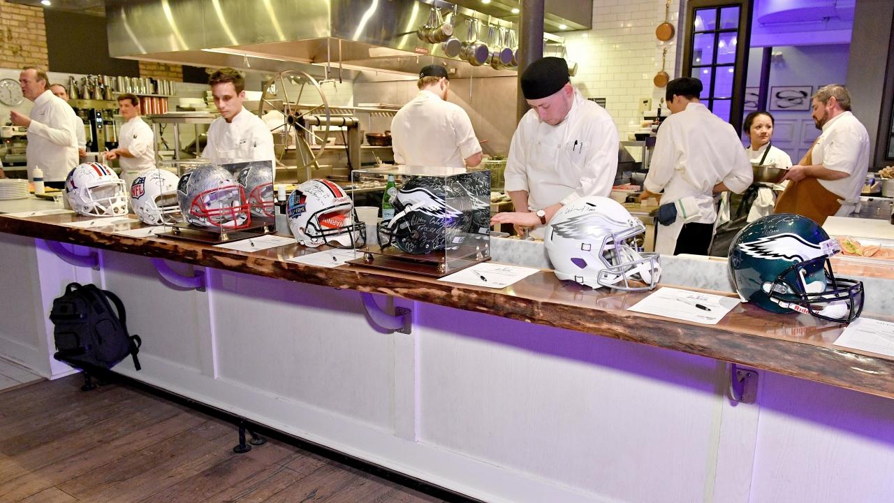 Food preparation at Culinary Kickoff