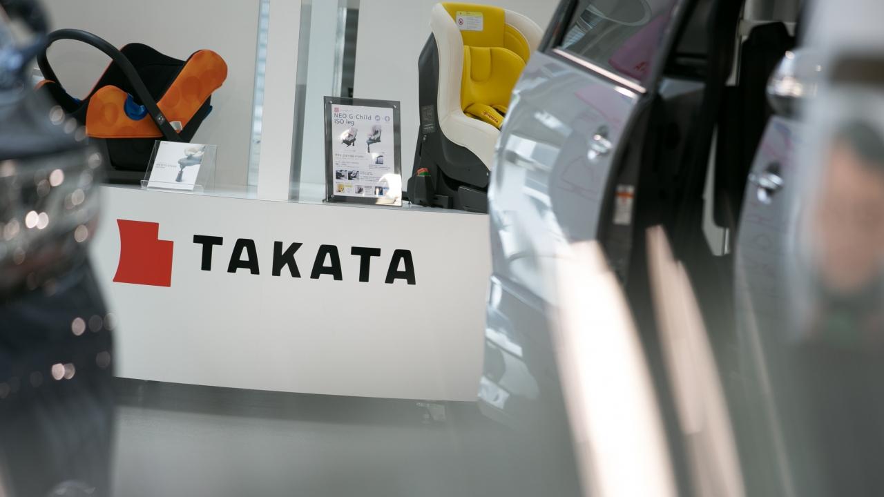 Takata logo on desk
