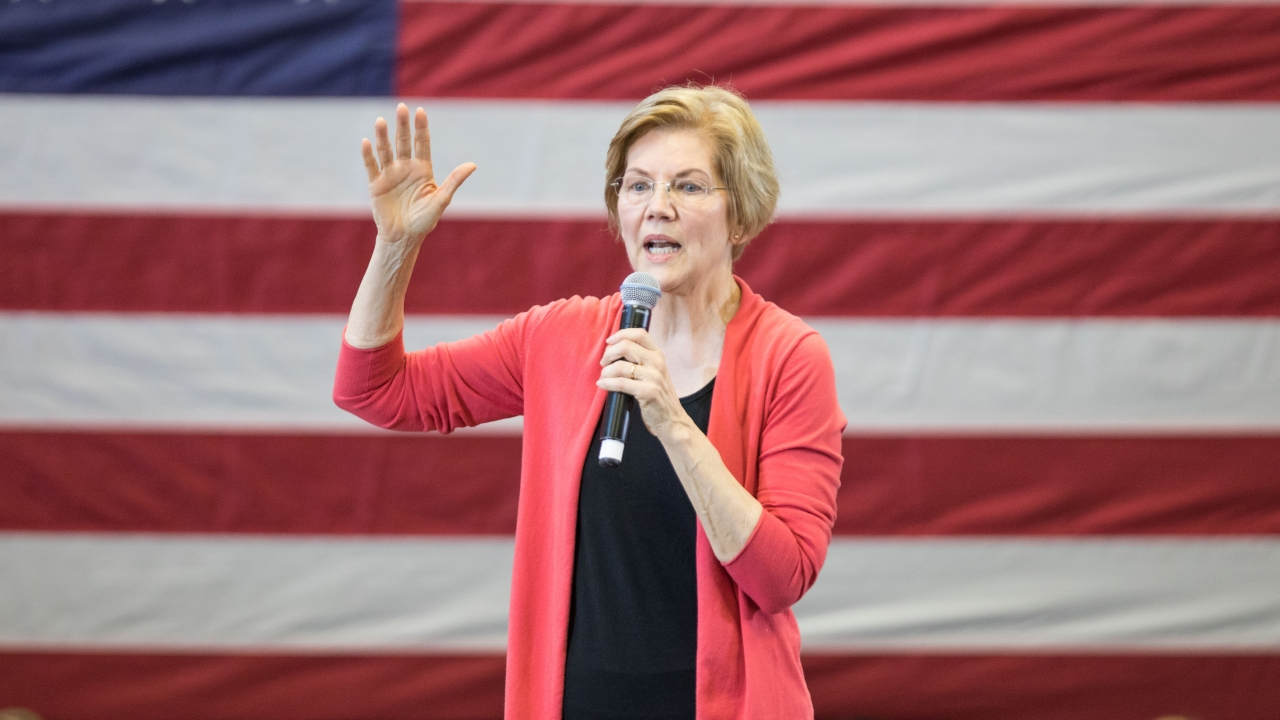 Sen. Elizabeth Warren speaks at an event