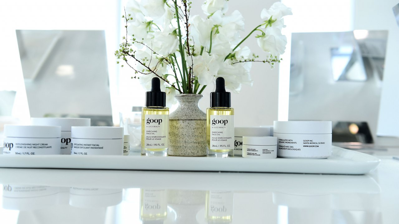 Goop brand oils and lotions