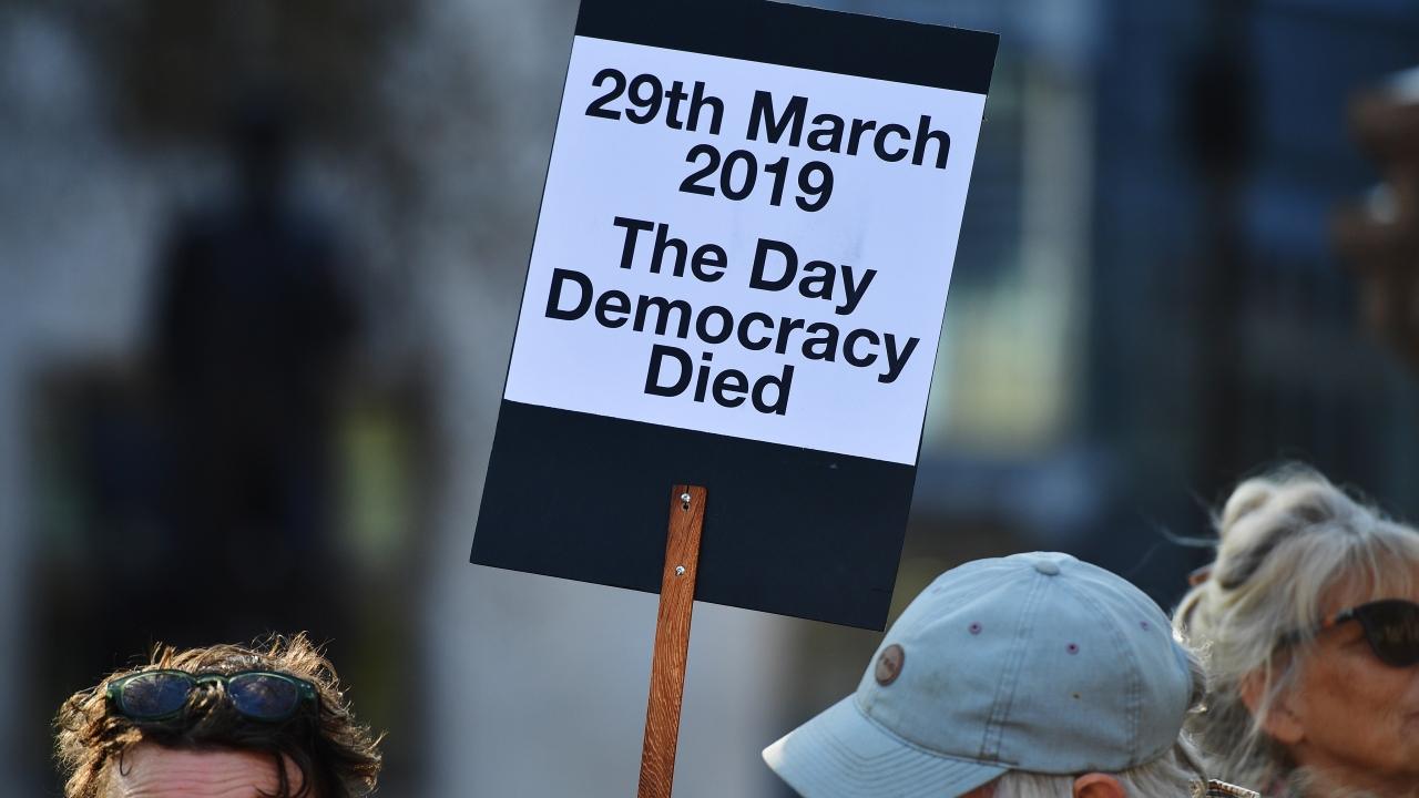 Pro Brexit demonstrators