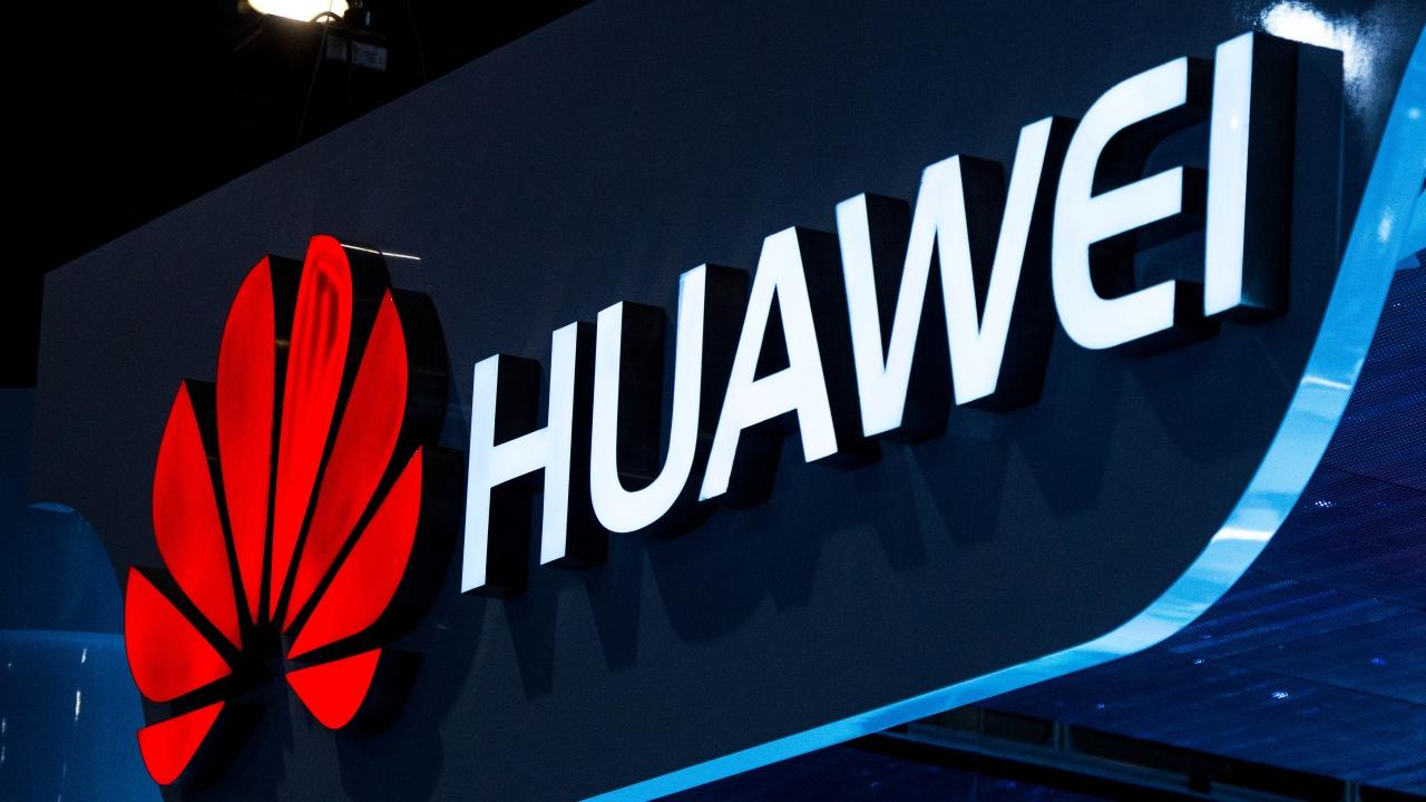 A Huawei sign