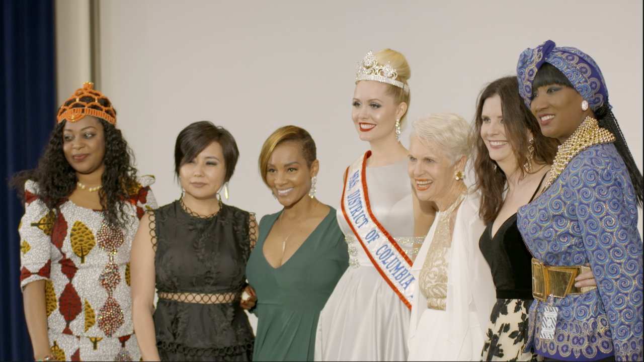 Attendees of the Glamour and Diplomacy fashion show