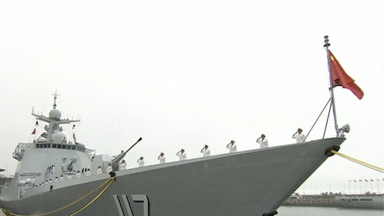 China Shows Off Military Force At Naval Parade