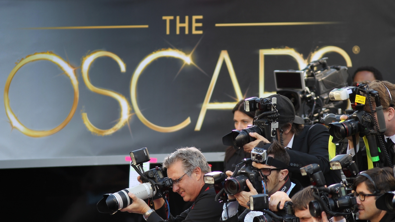 Photographers at the Academy Awards red carpet
