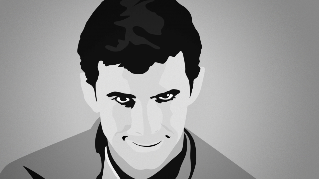 """Graphic of Norman Bates from """"Psycho"""""""