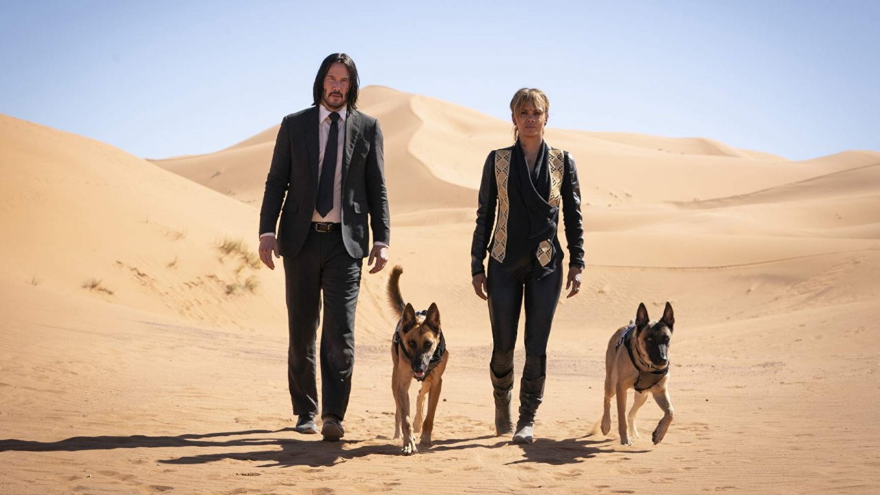 "Keanu Reeves and Halle Berry in ""John Wick 3"""