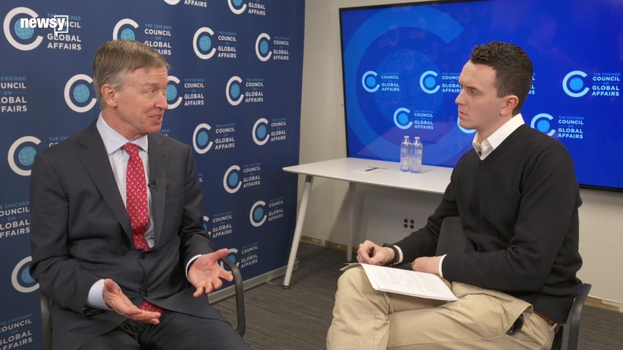 2020 Candidate John Hickenlooper On Iran, Guns and Impeachment