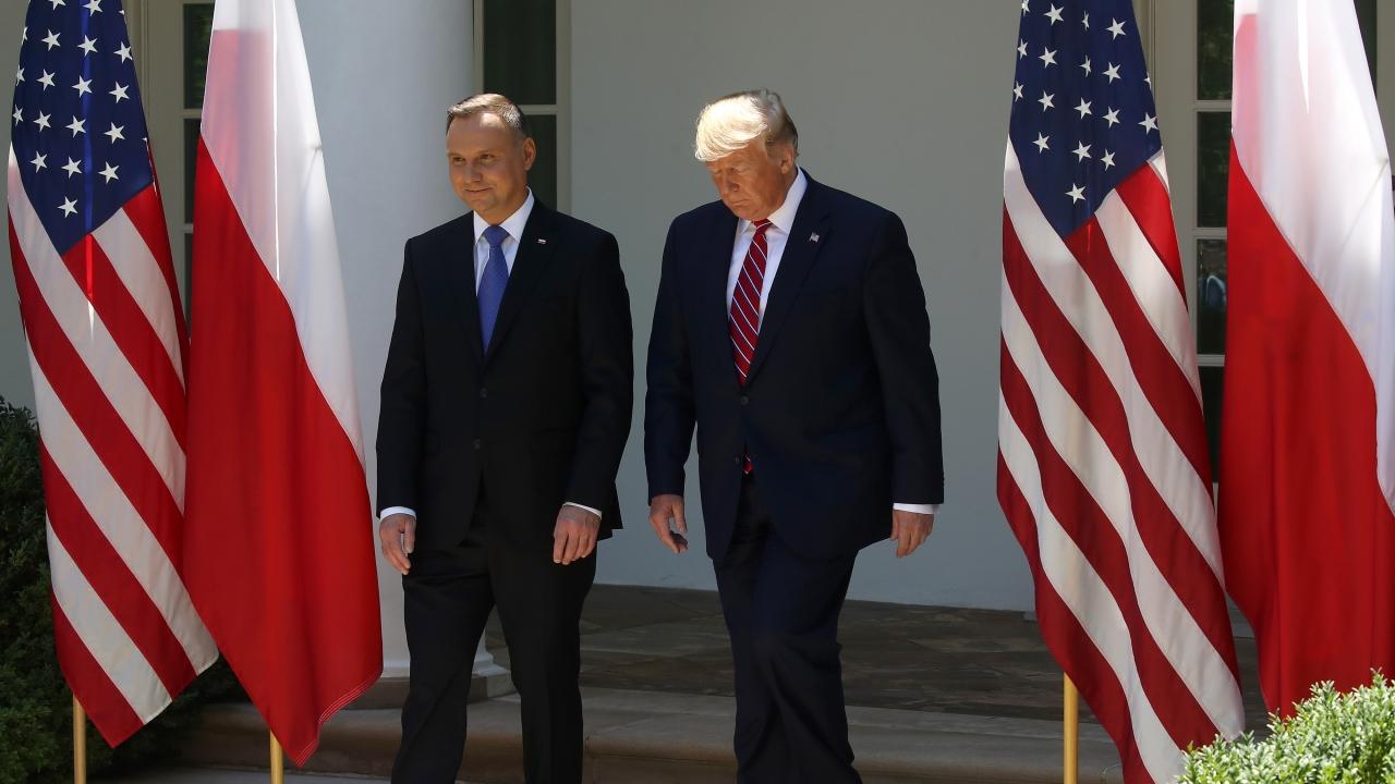 President Donald Trump and Polish President Andrzej Duda