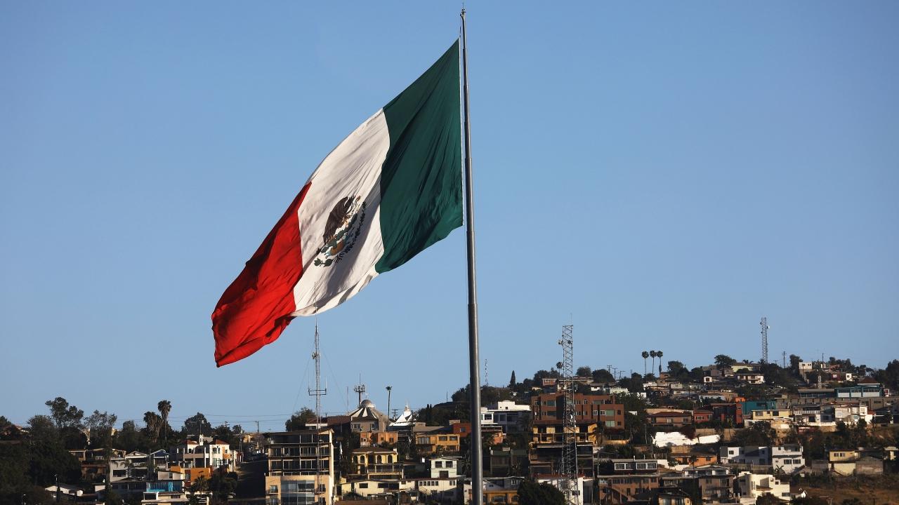 Mexican flag near the U.S.-Mexico border
