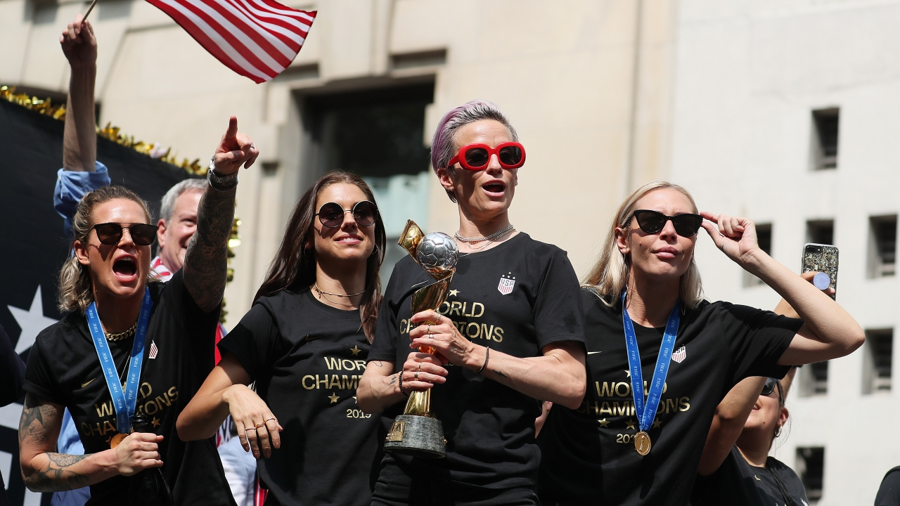 Ticker-tape parade in New York City for the U.S. Womens Soccer team