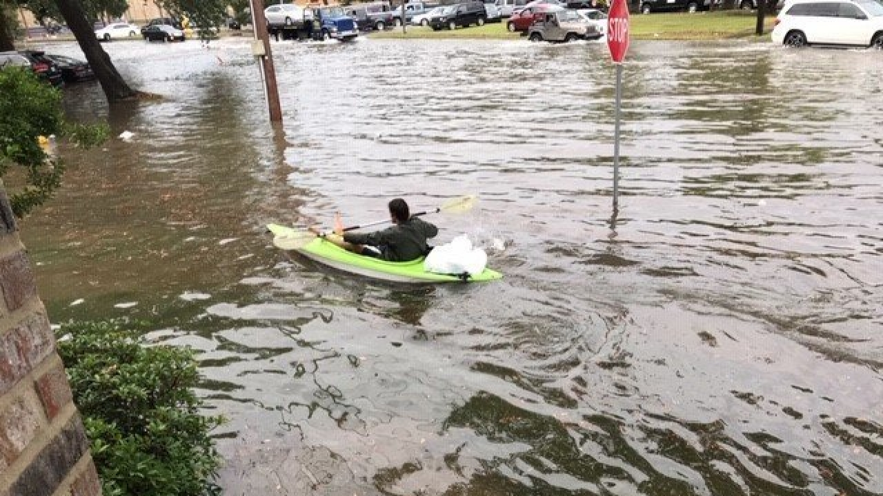 Flooding in New Orleans.