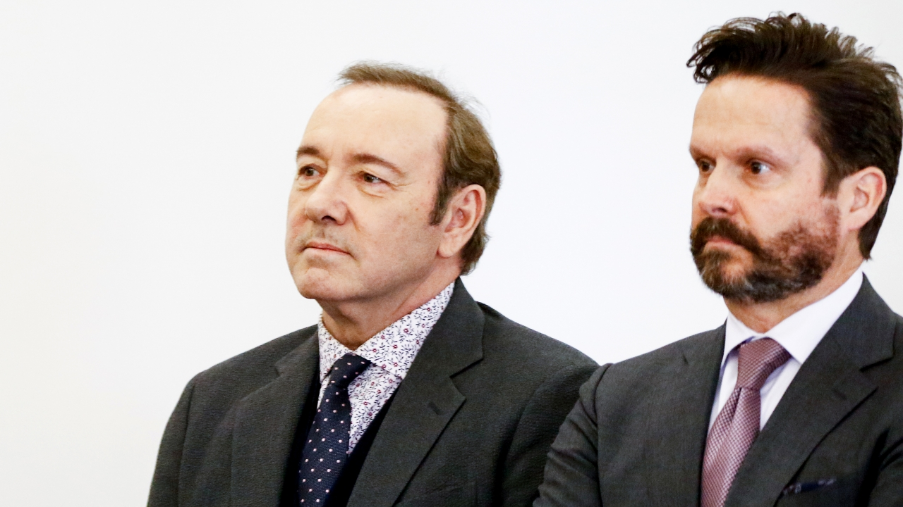 Kevin Spacey and his lawyer