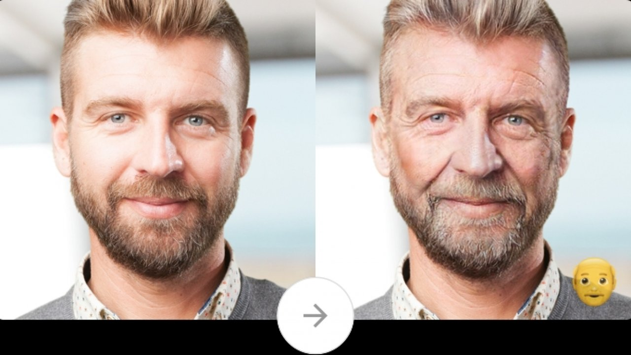 Photo editor Faceapp features its aging effect