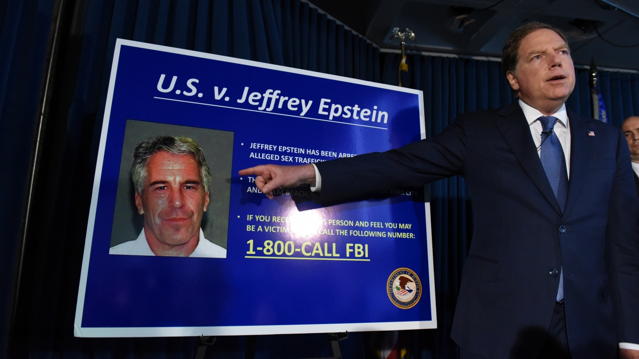 US Attorney for the Southern District of New York Geoffrey Berman announces charges against Jeffery Epstein on July 8, 2019
