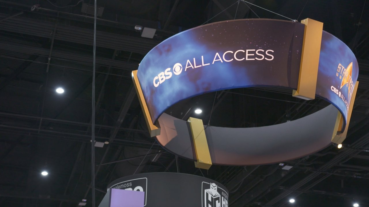 A CBS All Access banner at the 2019 San Diego Comic-Con