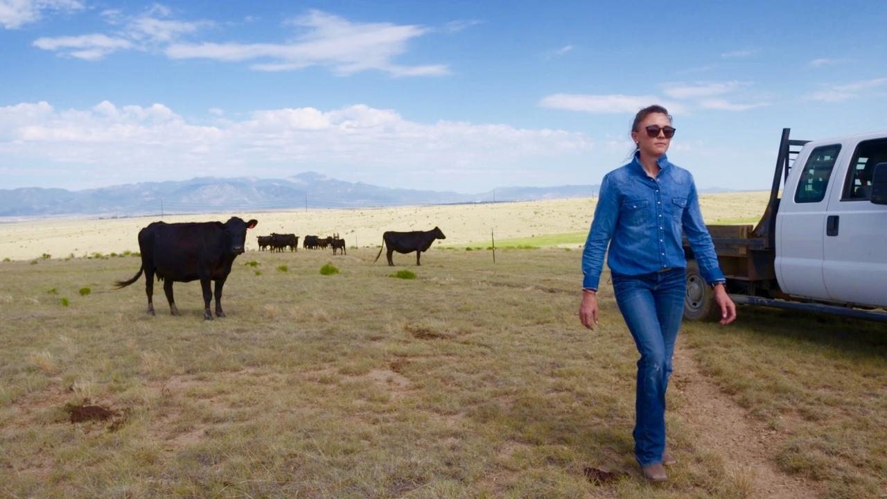 Maggie Hanna, a cattle rancher