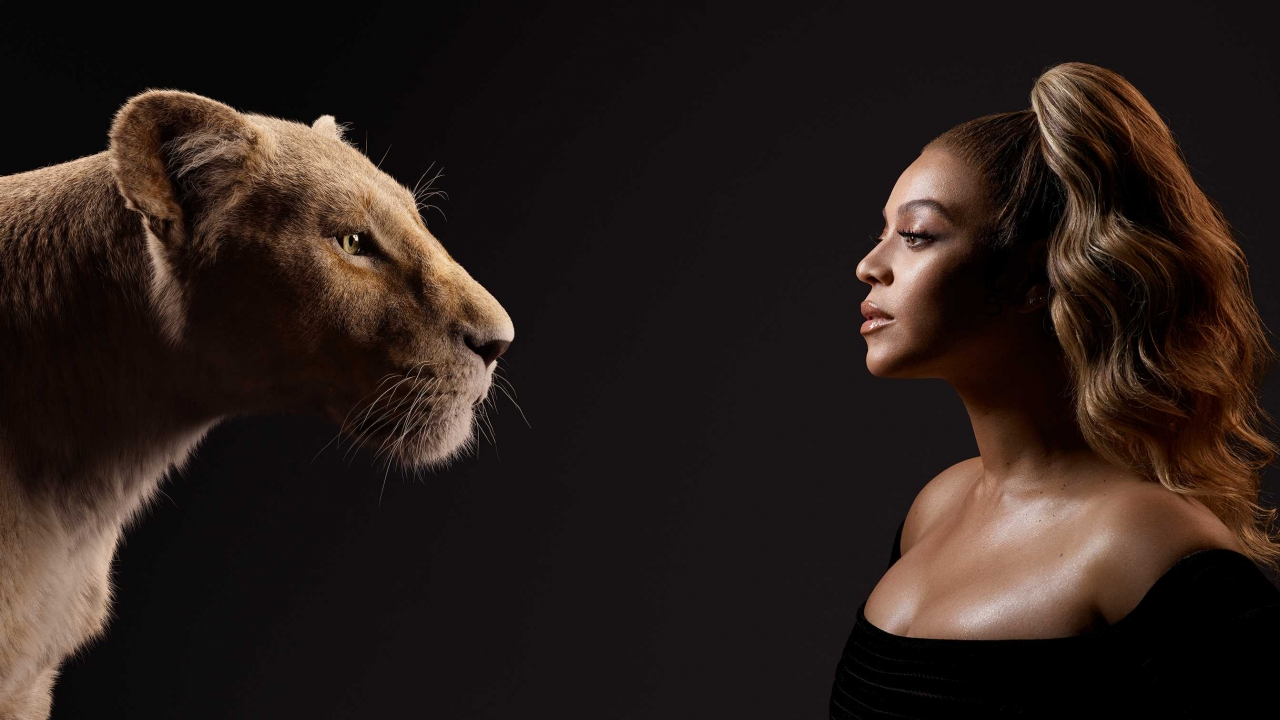 Beyoncé poses with her character Nala for the Disney film 'The Lion King' (2019)