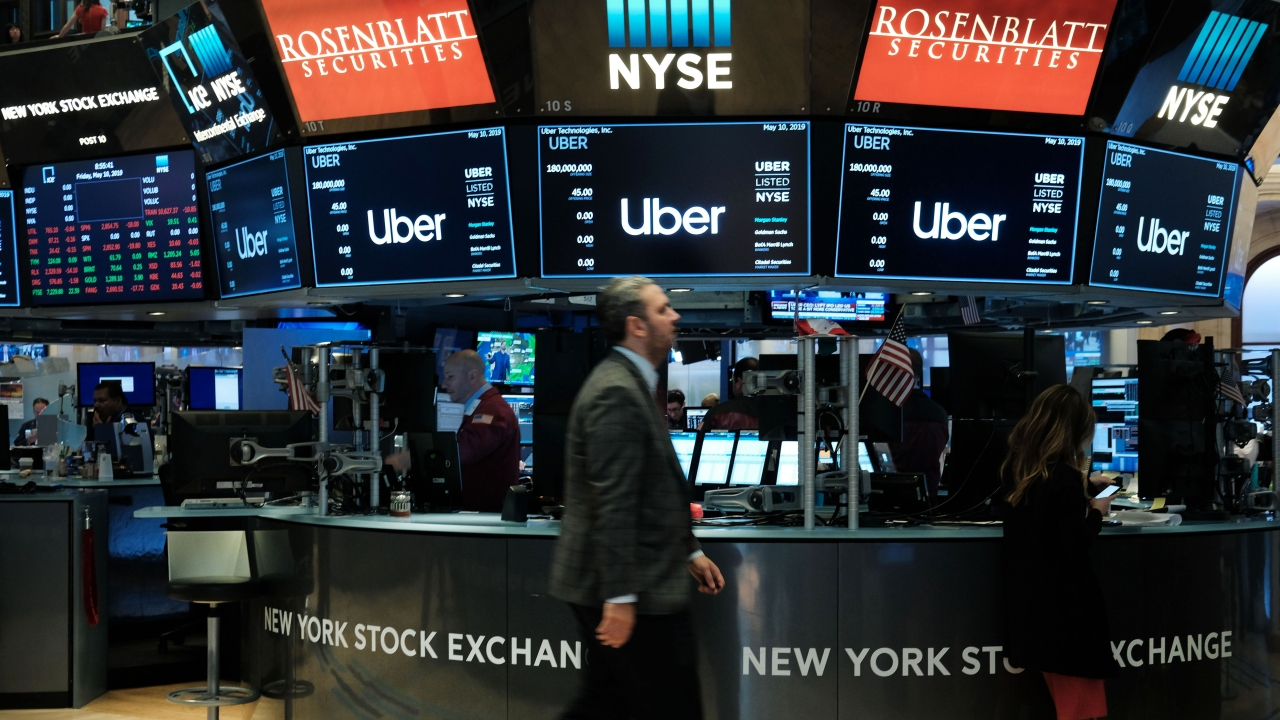 Uber at the New York Stock Exchange