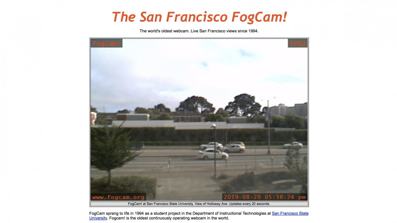 San Francisco's FogCam Will Be Switched Off After 25 Years