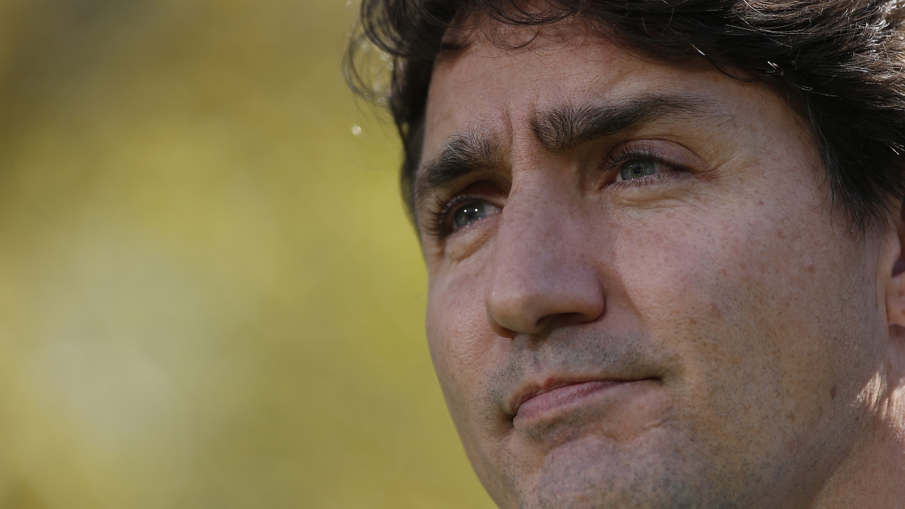 Close up of Canadian Prime Minister Justin Trudeau