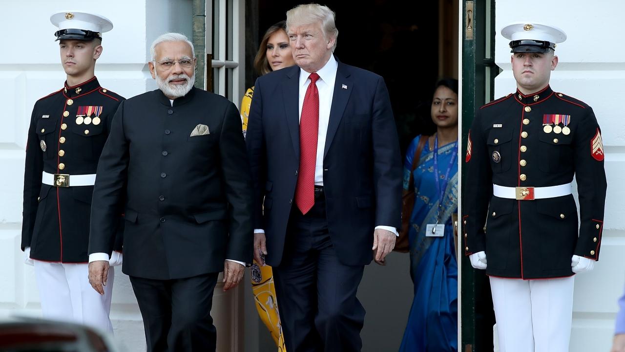 U.S. President Donald Trump escorts Indian Prime Minister Narendra Modi as Modi departs the White House June 26, 2017