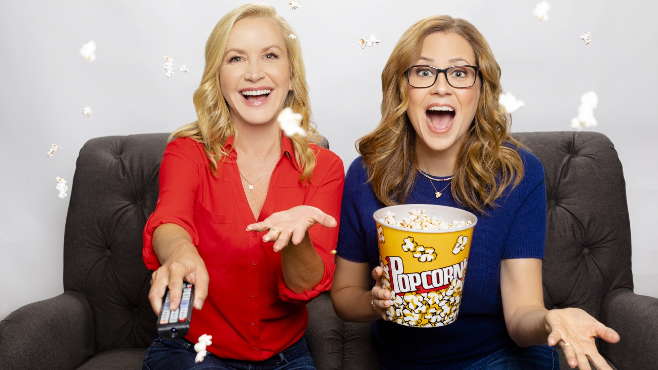 Actresses Angela Kinsey and Jenna Fischer