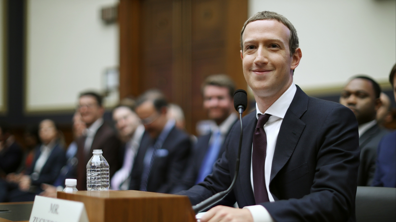 Facebook CEO Mark Zuckerberg answers questions for the House Financial Services Committee during October 2019.