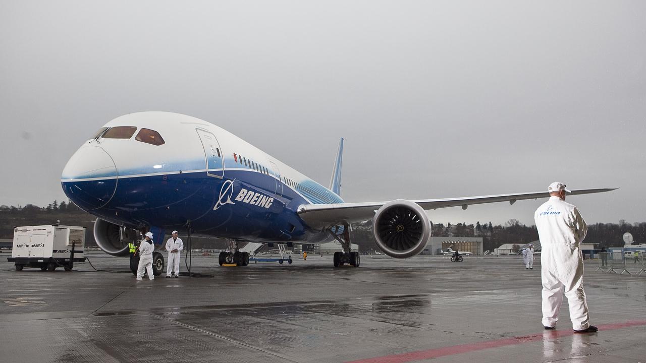 A Boeing 787 Dreamliner aircraft