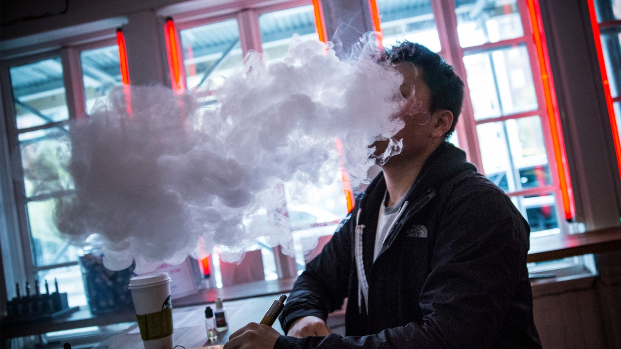 A person vaping in New York