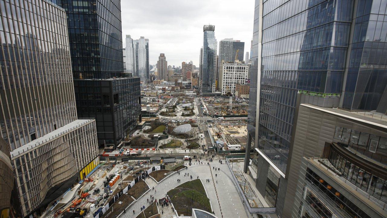 Hudson Yards neighborhood in Manhattan