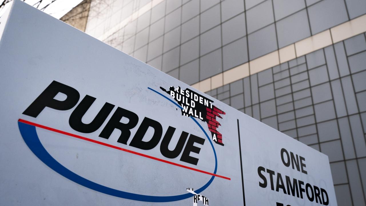 Purdue Pharma sign