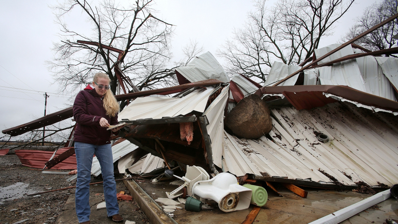 Death Toll Rises As Severe Storms Sweep Across The South, Midwest