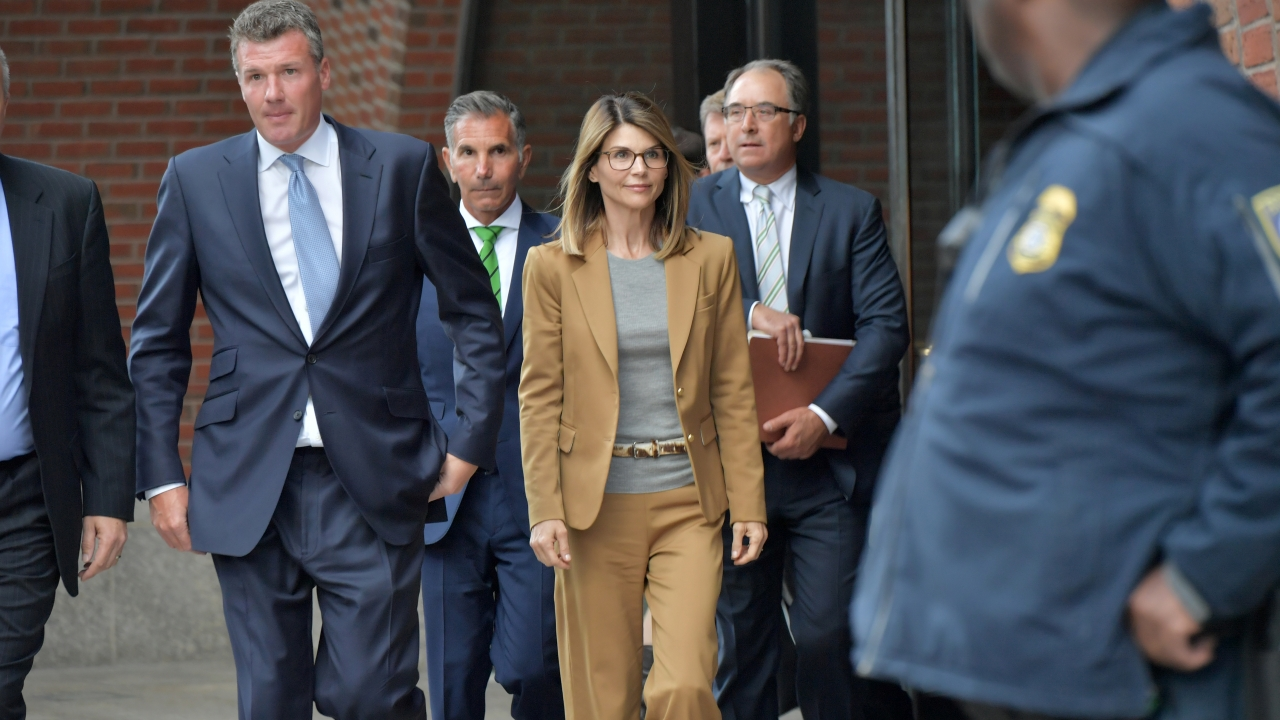 Lori Loughlin with her lawyers