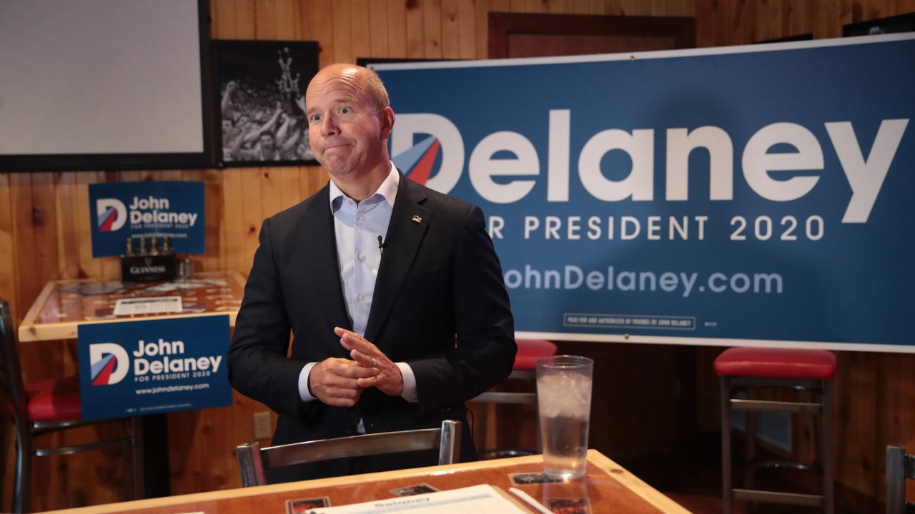 Democratic Presidential Hopeful John Delaney Drops Out Of The Race