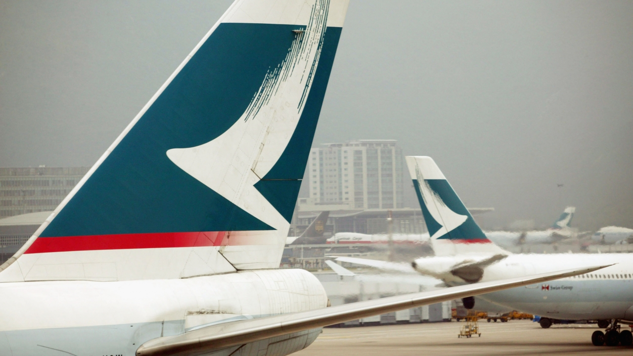 Cathay Pacific airplanes