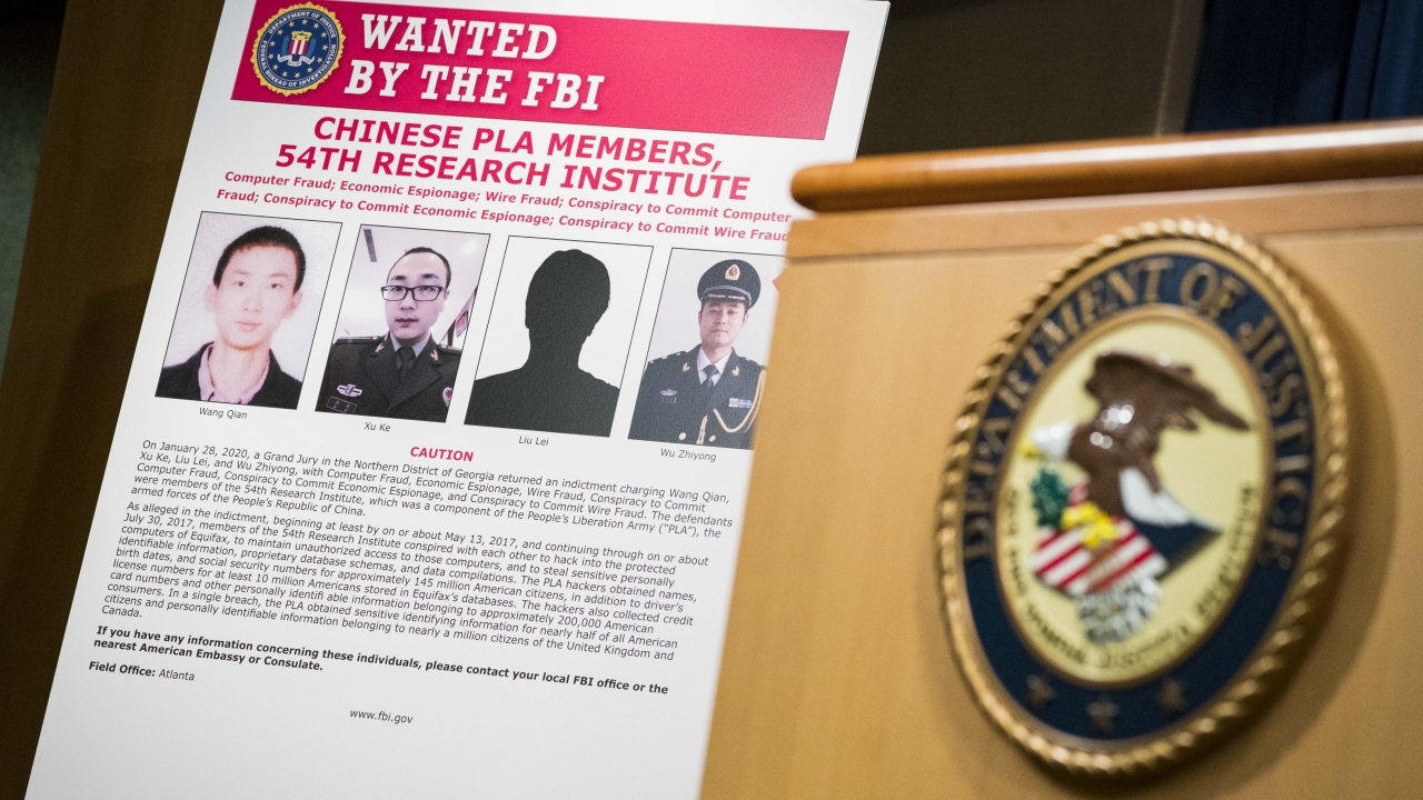 """Wanted"" poster for hacking suspects"
