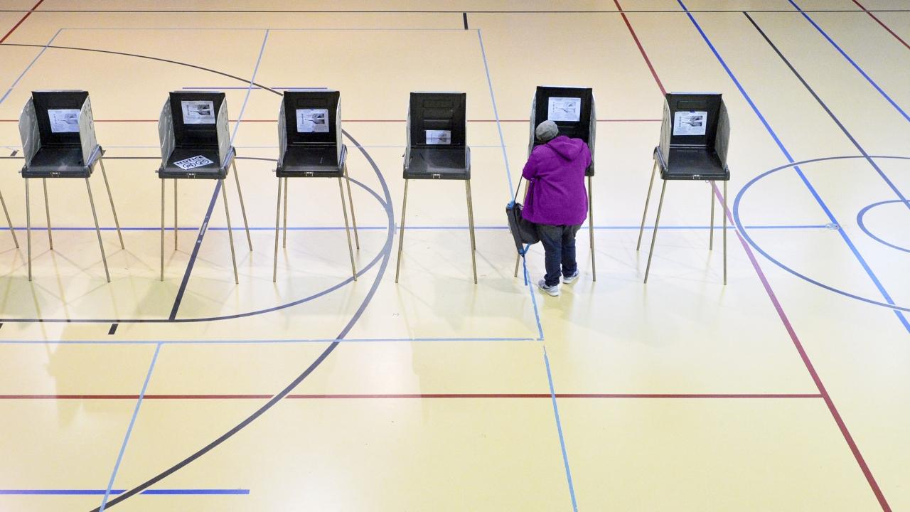 Woman votes in Durham, North Carolina