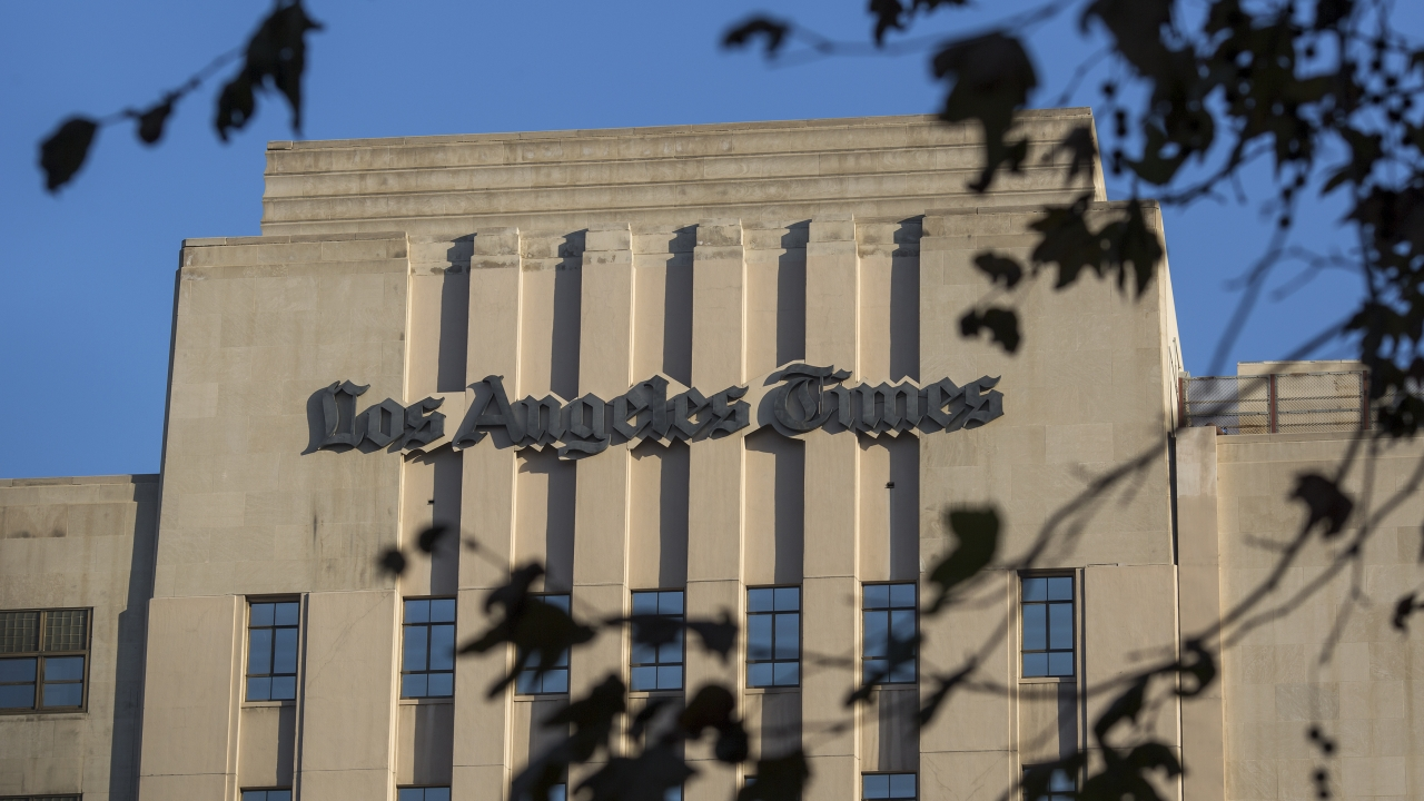The Los Angeles Times building in Los Angeles, California
