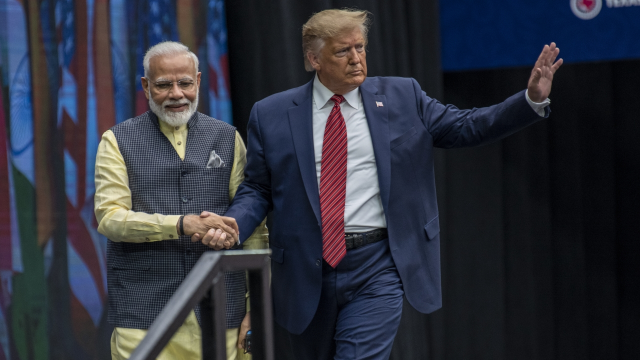 Indian Prime Minster Narendra Modi and U.S. President Donald Trump