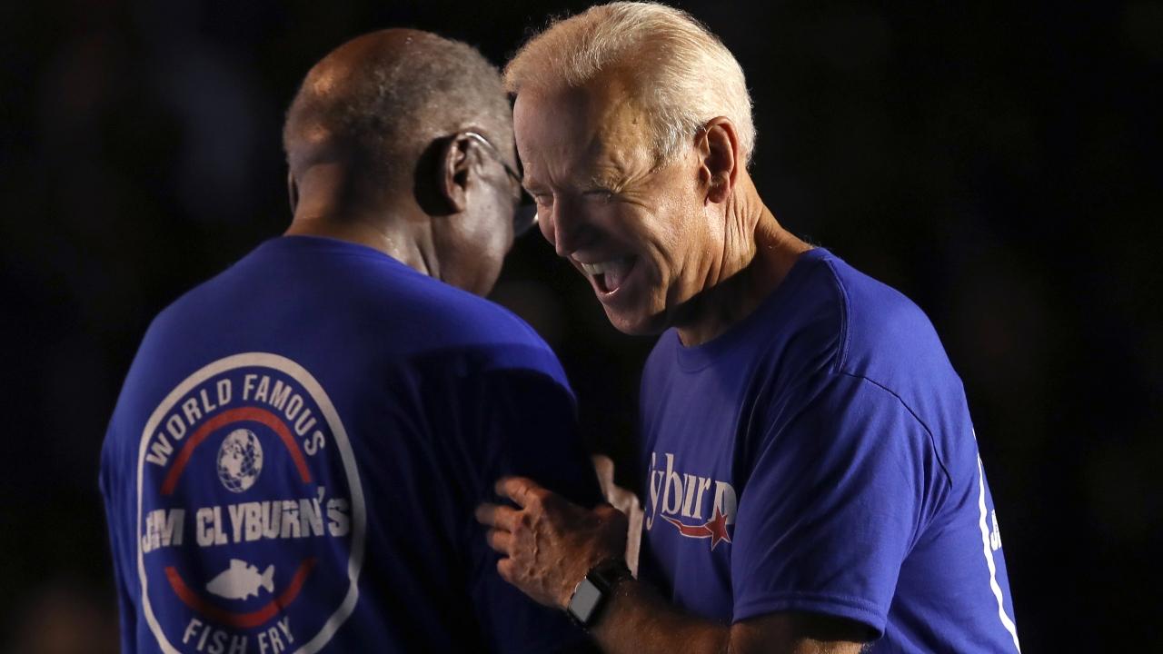 Rep. James Clyburn and Joe Biden