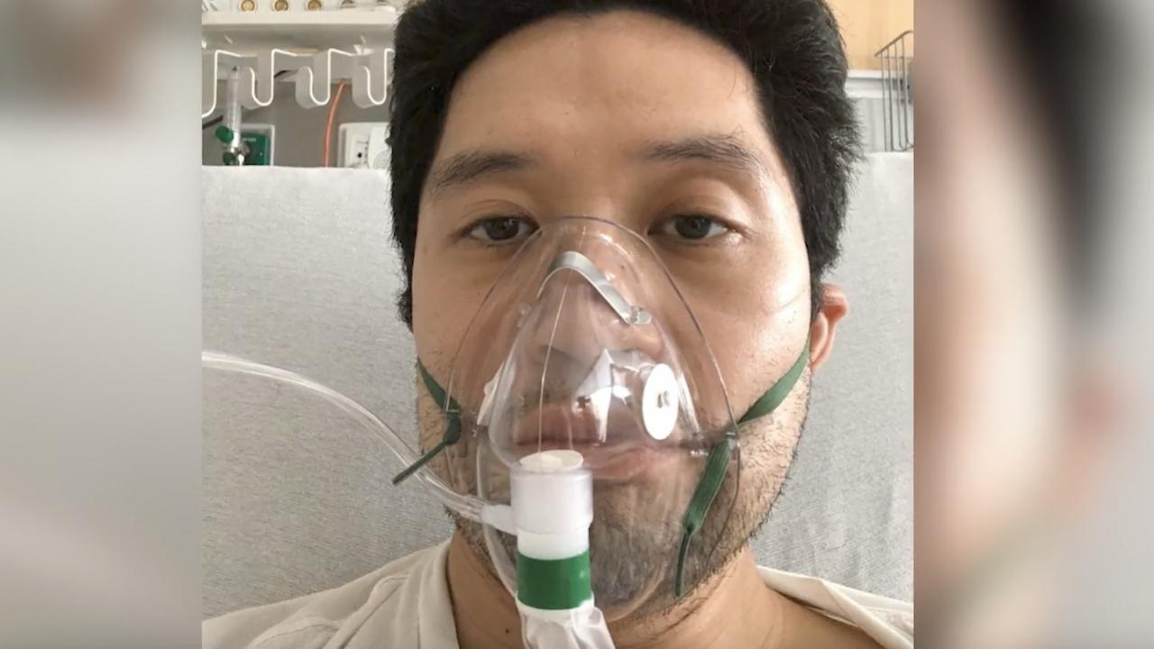 David Lat receives oxygen