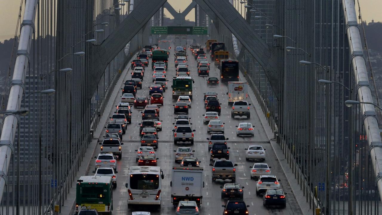 Cars on San Francisco-Oakland Bay Bridge