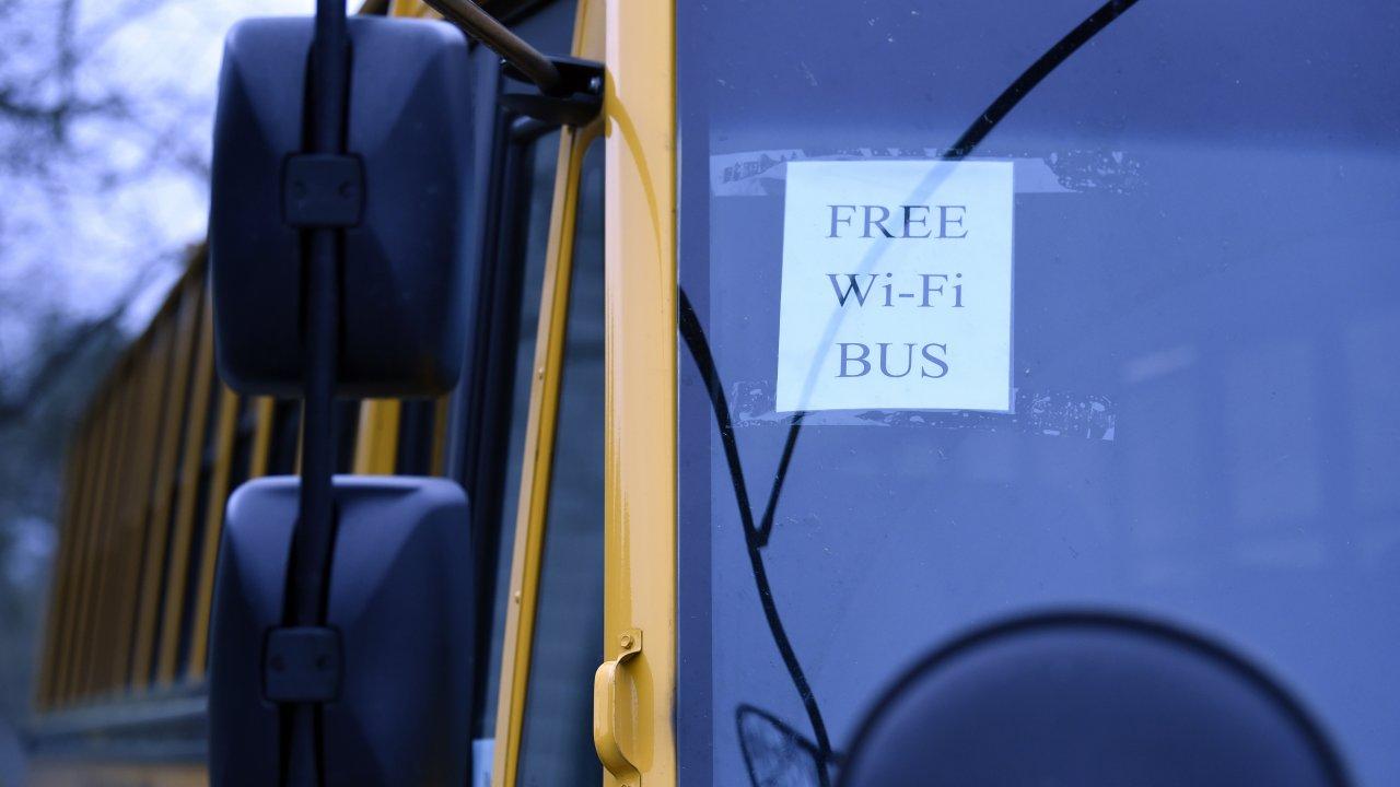Wi-Fi hotspot school bus