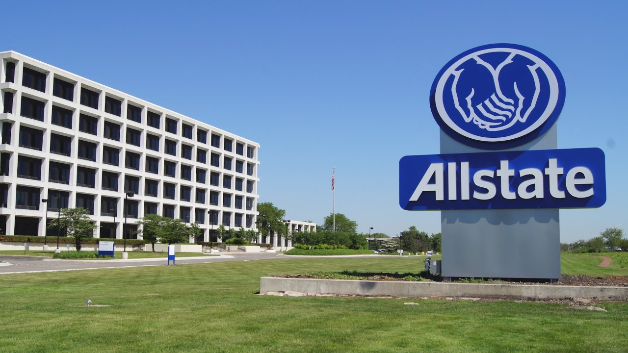 Allstate sign in front of office building