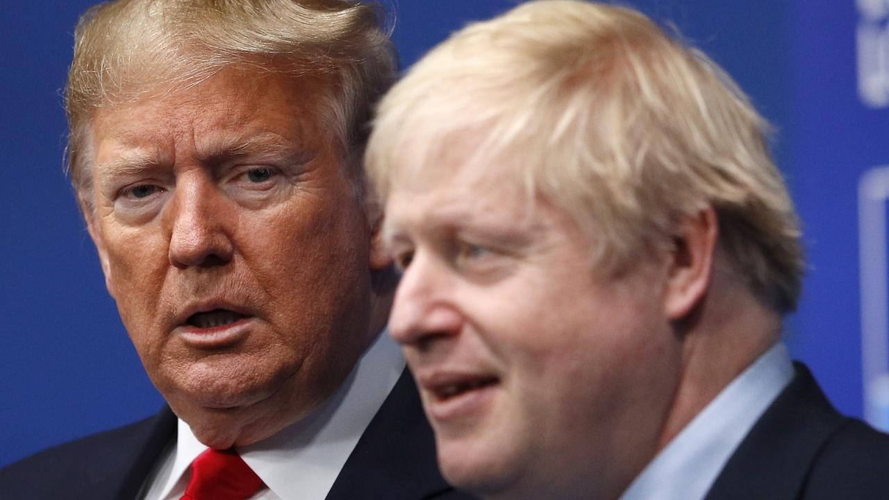 U.K. Prime Minister Boris Johnson and U.S. President Donald Trump