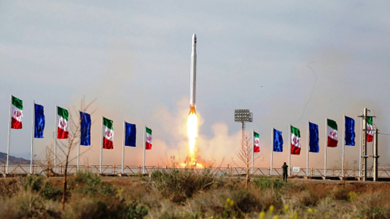 Iranian rocket carrying a satellite is launched
