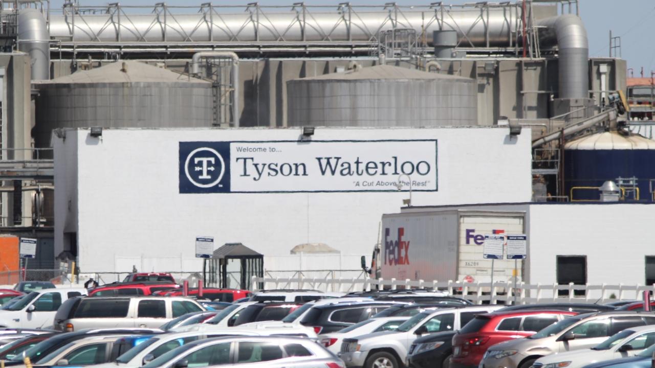 Tyson Fresh Meats plant in Waterloo, Iowa