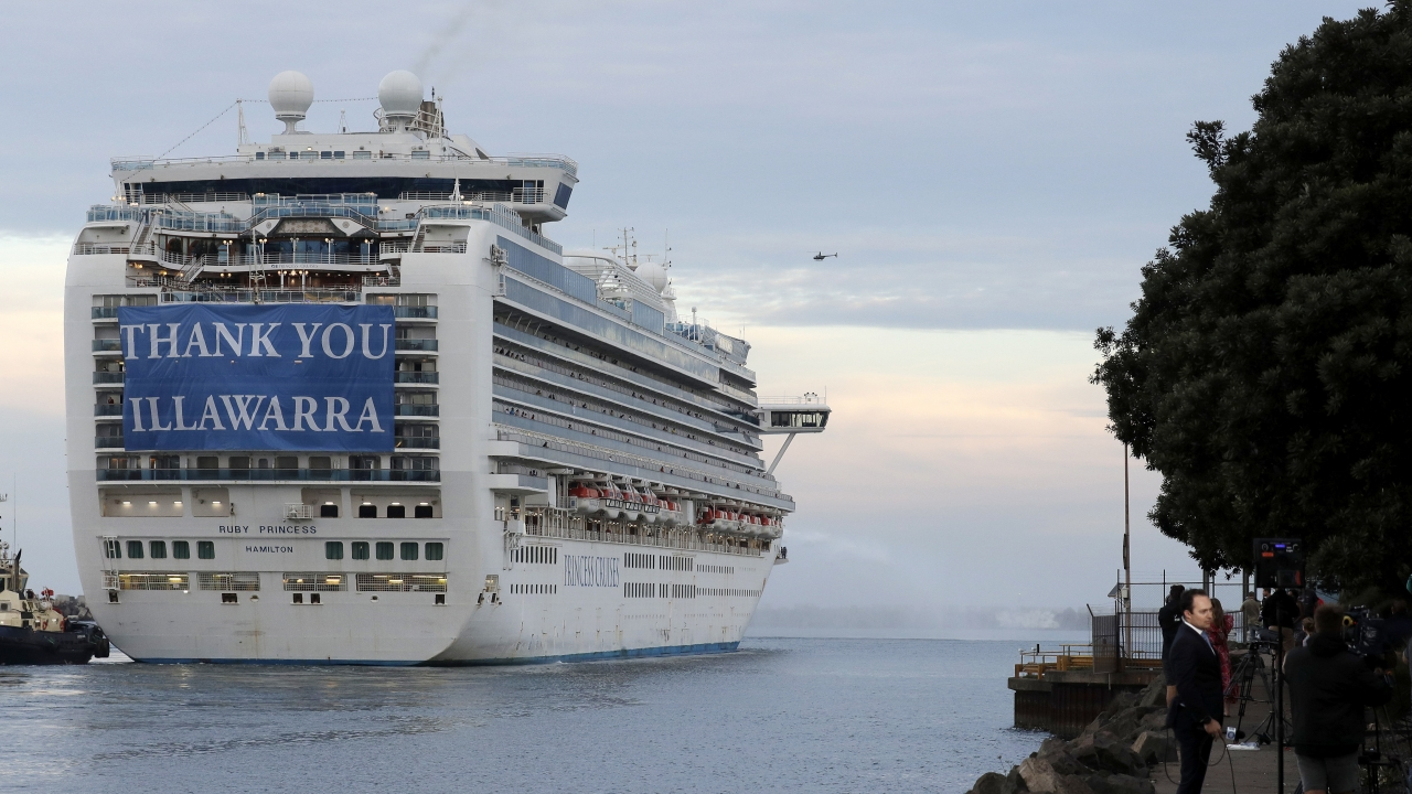 Ruby Princess Cruise Ship Departs Australia Video